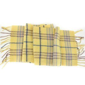 BURBERRY: Yellow, Nova Check 100% Wool Scarf (ru)